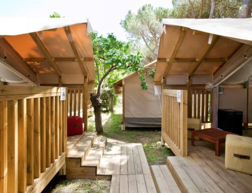 The new lodge tents of the Glamping Village Rocchette