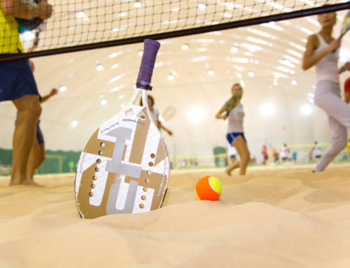 Beach tennis for an active holiday