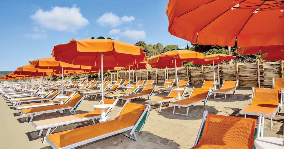 Spiaggia privata - Rocchette Camping Village